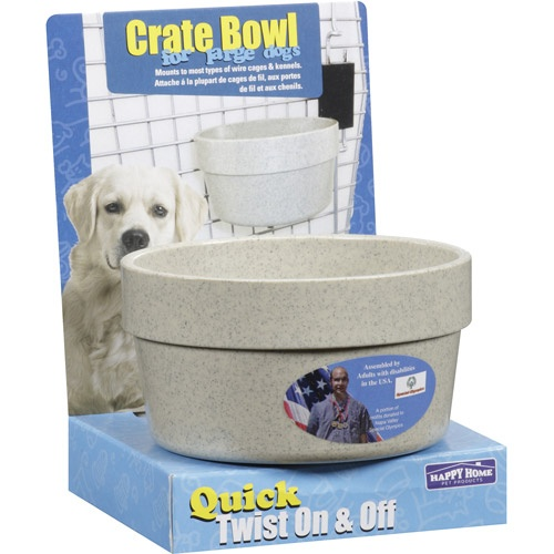Happy Home Pet Products Dog Crate Bowl