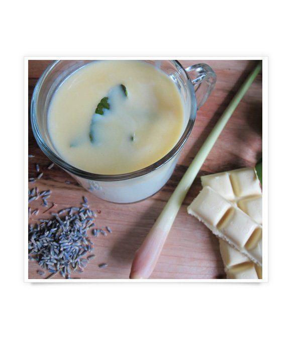 Lemongrass-Lavender White Hot Chocolate