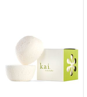 Kai - Body Buffer     soapy sponge with Kai scent - makes my shower heavenly