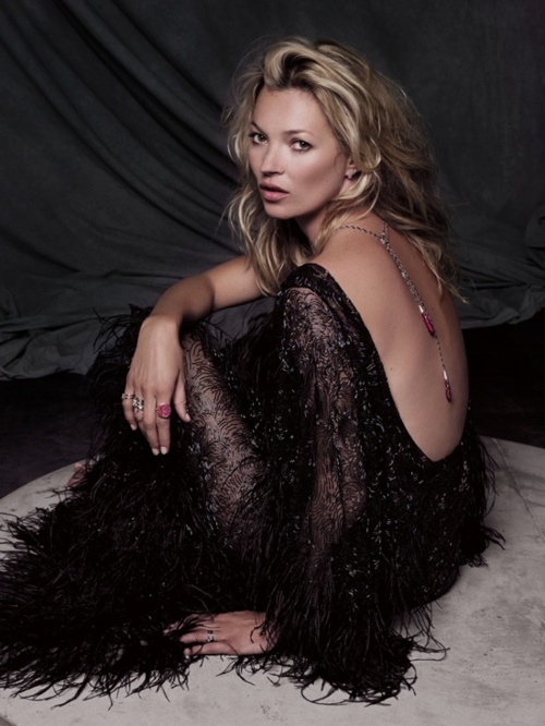 Kate Moss for Fred Jewelry, 2011  Photo Sonia Sieff