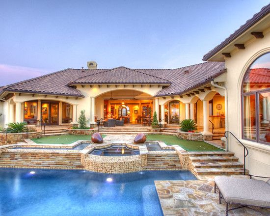 Mediterranean Dream House Design Swimming Pools Mansions