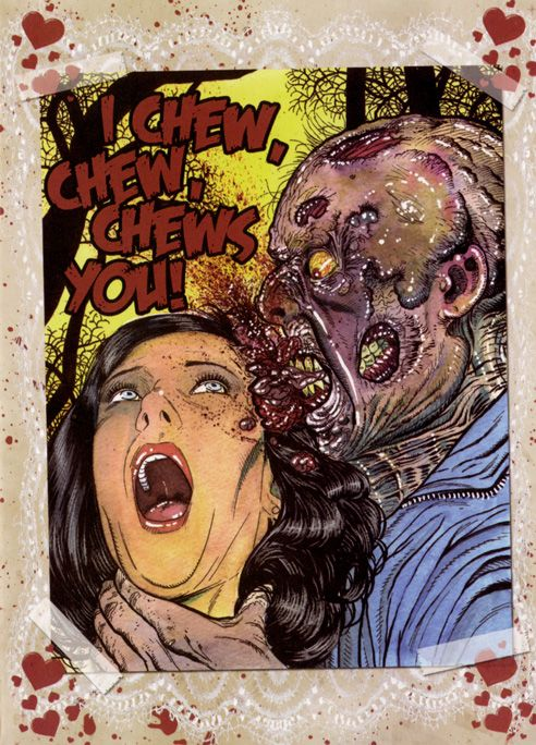 valentines day zombie card