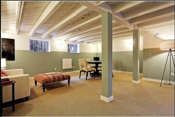 Unfinished Basement Office Ideas : Painted Basement Ceiling!! Great idea  office  Pinterest