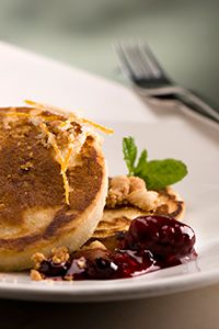 amp buttermilk pancakes classic pancakes are topped with warm berry ...