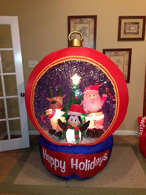 Prototype gemmy christmas ornament snow globe inflatable airblown