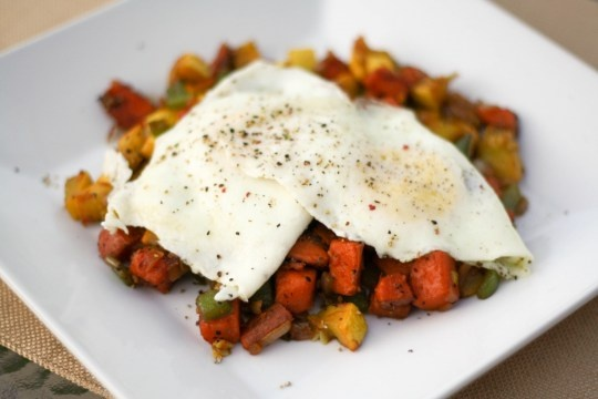 Veggie Hash and Eggs | food and recipes | Pinterest