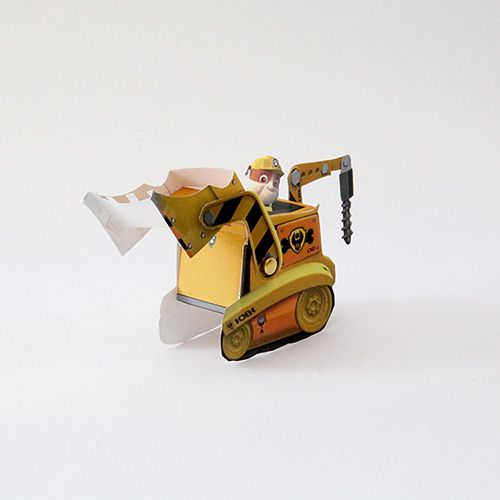 paw patrol toys | Rubble Paper Vehicle Toy