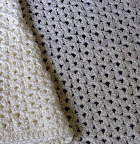 Crochet Stitches Cluster : Cluster Stitch Baby Blanket Detail