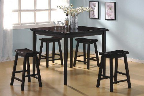 black kitchen dining table barstool stool chair set by coaster home
