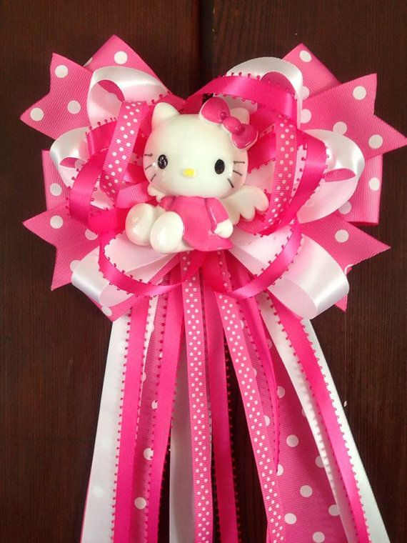 hello kitty mommytobe baby shower corsage by designsbyemilys