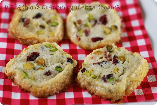 pistachio and cranberry icebox cookies | Christmas Edibles! | Pintere ...