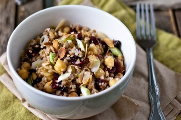 Bulgur & Chickpea Salad with Cranberries, Toasted Almonds and Cumin ...