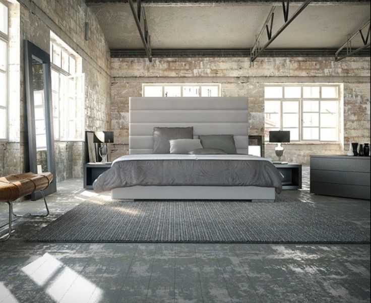 Industrial loft conversion bedroom collectives live here for Decoration loft industriel
