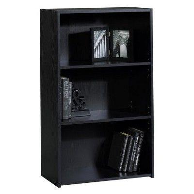 Room Essentials 3 Shelf Bookcase Black