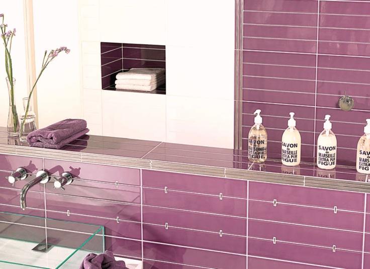 Decoracion Baño Morado:Color mueble de baño morado Decoración