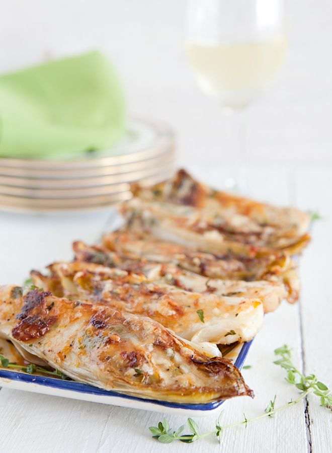 Roasted Belgian Endive with Gruyére Cheese and Thyme - a perfect fall ...