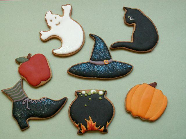 Halloween cookies By Honeycat Cookies☆ | Cookies! | Pinterest