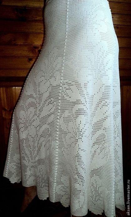 Филейное вязание юбка крючком 41