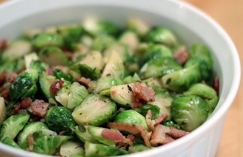 Brussels Sprouts with Bacon & Thyme | foooood! | Pinterest