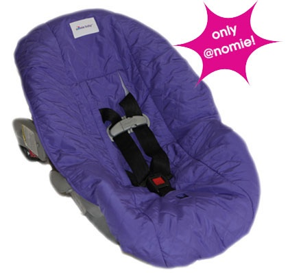 purple baby girl car seat covers purple infant car seat cover nomie baby car seat covers. Black Bedroom Furniture Sets. Home Design Ideas