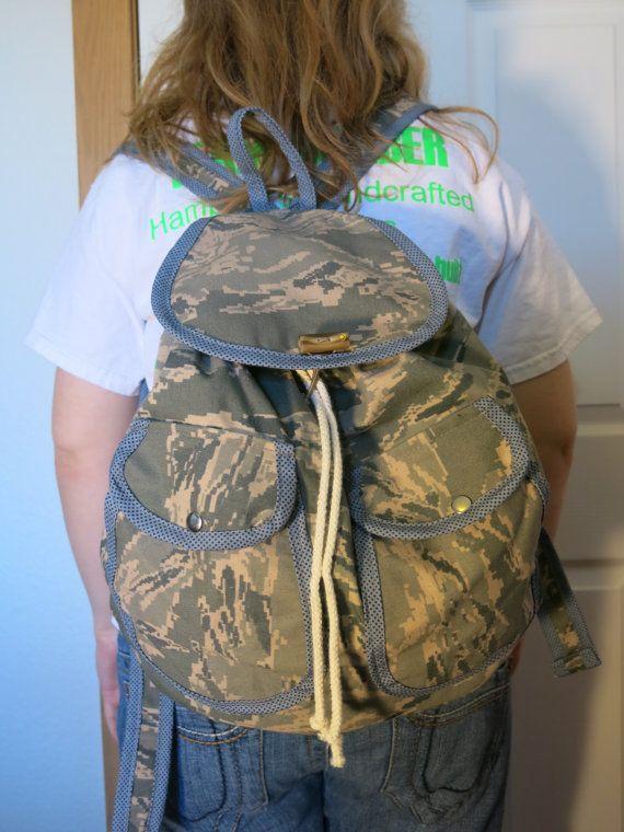 Air Force Military ABU shirt uniform Backpack by HamptonsPurses, $45 ...