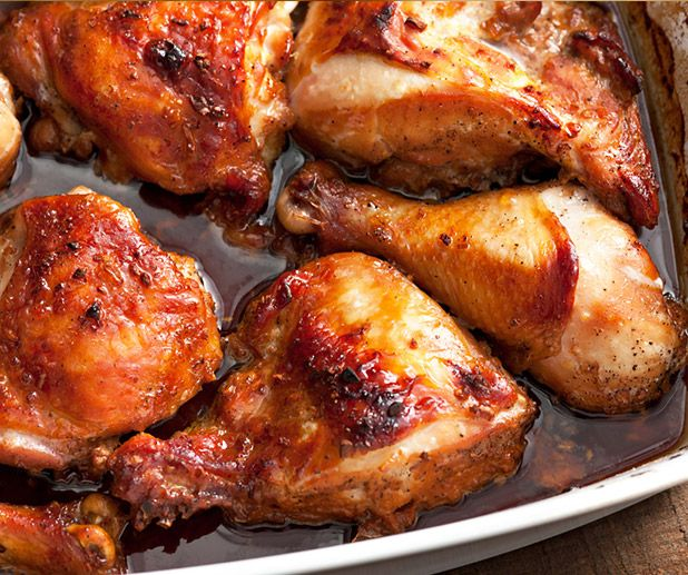 Asian-Marinated Baked Chicken Recipe — Dishmaps