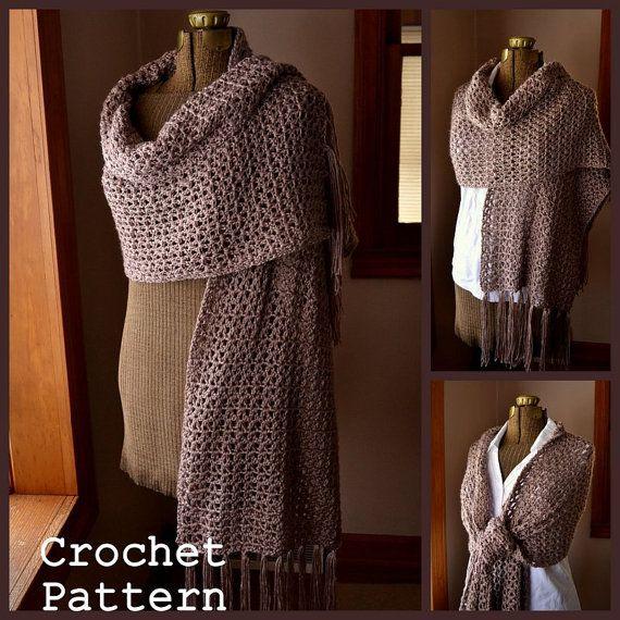 Crochet Pattern PDF Shawl Scarf Stole Simply Soft Wrap ...