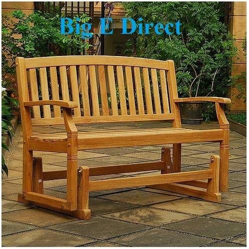 100% Teak Wood Porch Glider Swing Bench Seating Garden