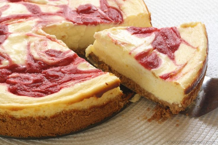 Strawberry Swirl Cheesecake {A guest post from Chocolate Moosey} from ...