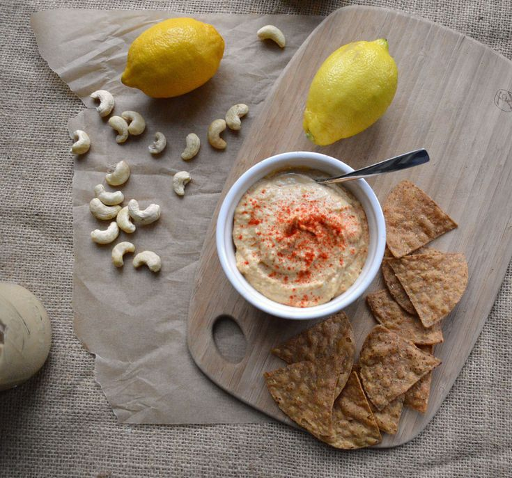 lemon cashew chickpea hummus | recipes | Pinterest