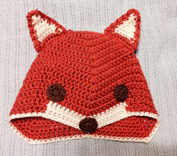 Crochet Fox Hat : Crochet fox hat My creations Pinterest