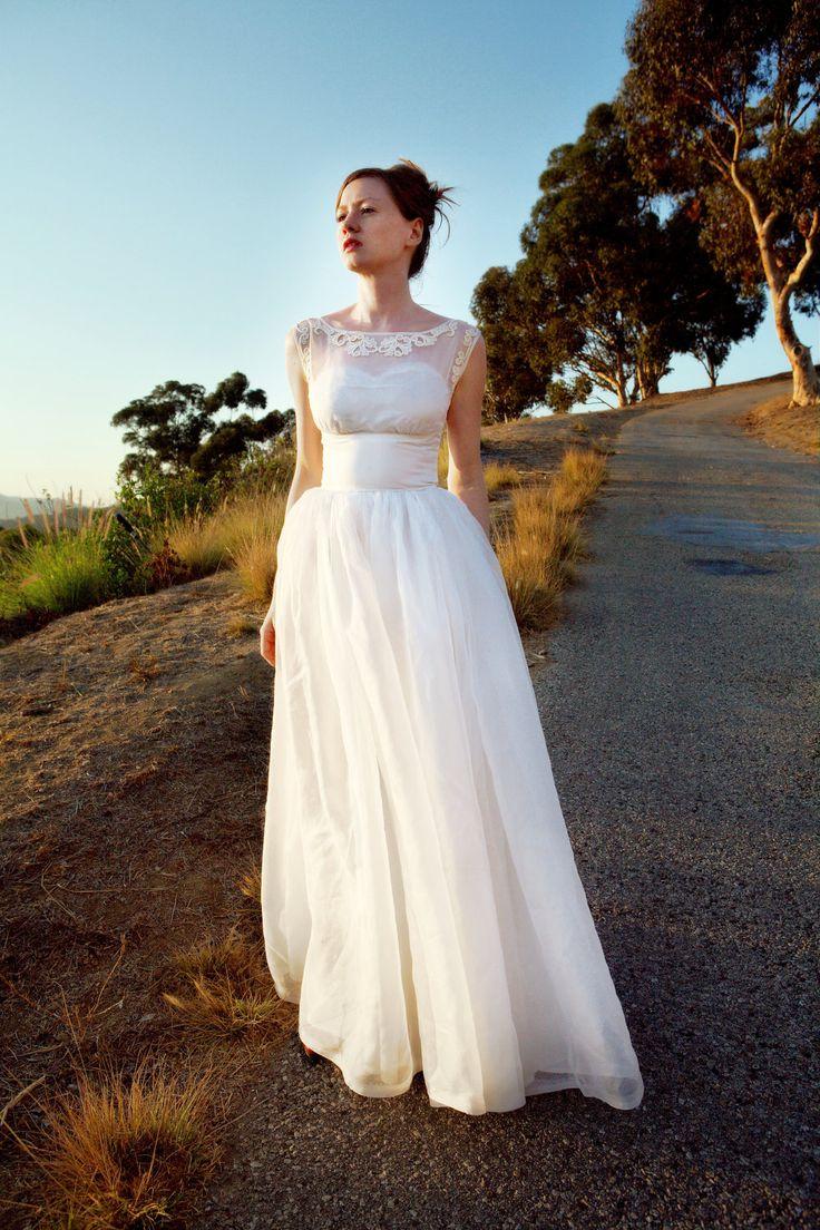 1960s Vintage Wedding Dress Via Etsy