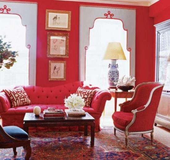 Red hot room #red #decor #inspiration