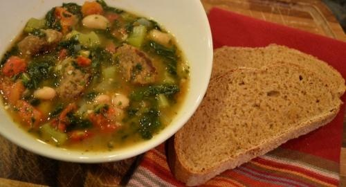 Italian Meatball Soup Rapido- Greyt Veagan Life
