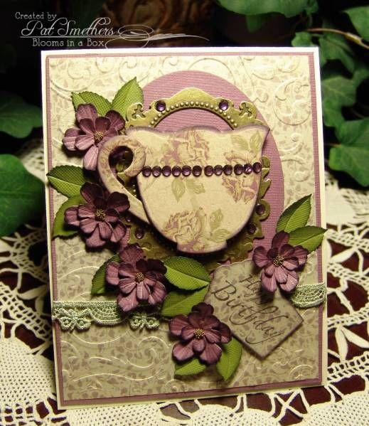 ~ ~ Lavender Tea por flores em uma caixa - Cartões e Ofícios de papel no Splitcoaststampers