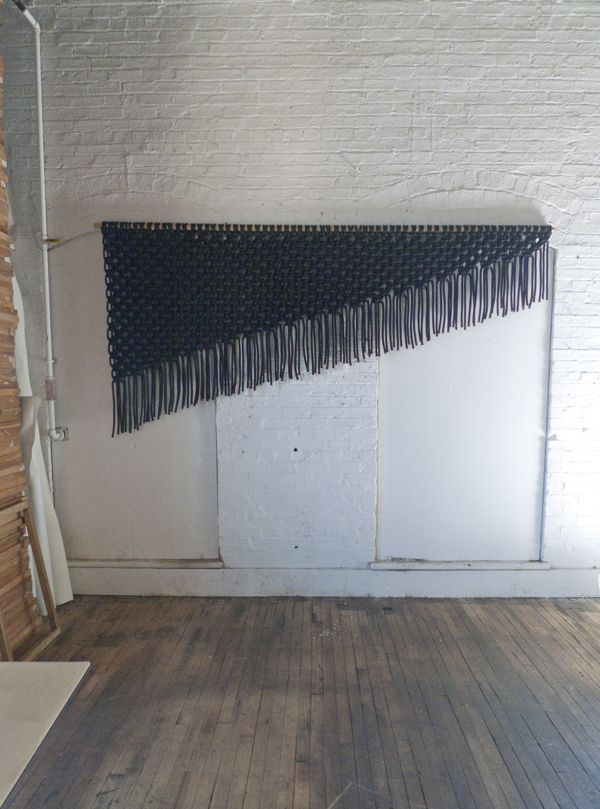 black macrame wall art