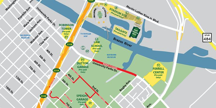 Links to maps, street closure listings & everything you need to know about parking at McLane Stadium BEFORE you head to the game.
