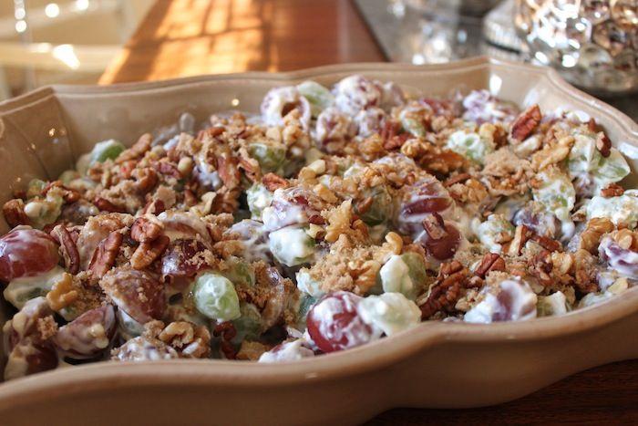 grape + yogurt fruit salad | food . recipes . kitchen | Pinterest