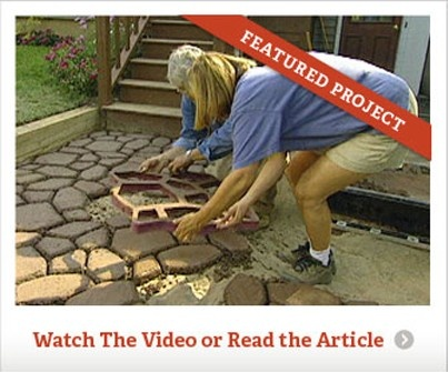 Make Your Own Concrete Walkway Pavers Decks Patios And