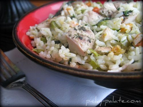 Romano Ranch Chicken and Rice Skillet Dinner - Picky Palate - Sub in ...