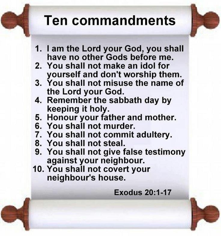 10 commandments | PRAY TOGETHER | Pinterest
