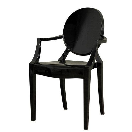 modern acrylic black armed ghost chair 175 world sales shops