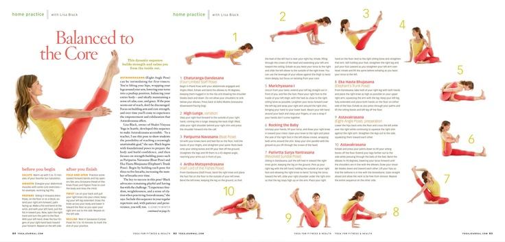 Yoga - Balanced Core exercise | Exercise | Pinterest