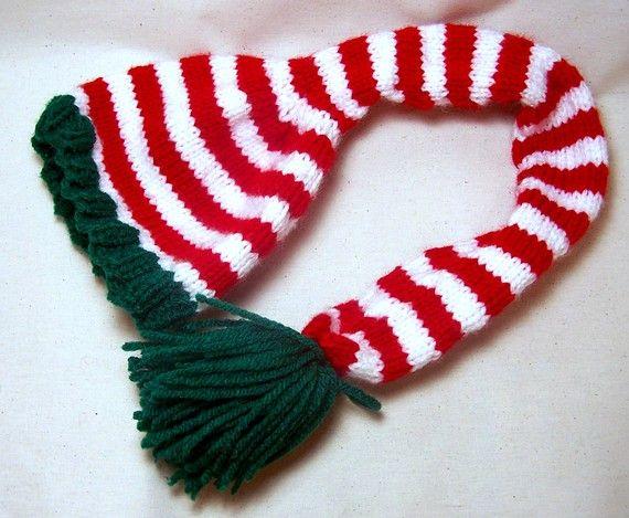 Knitting Pattern Elf Hat : PDF KNITTING PATTERN Santas Helper Knitted Elf Hat