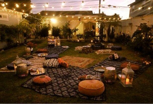 Bohemian Backyard Party : Bohemian backyard party  Backyard  Pinterest