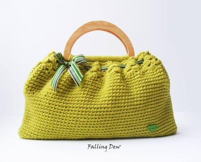 Crochet Bag, Crochet Purse, Handmade Handbag, Summer Spring Bag, Gift ...