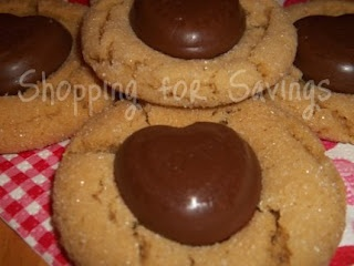 Valentine Sweets: Peanut Butter Blossom Hearts
