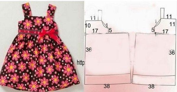 Платье на девочку 2 года сшить 8285