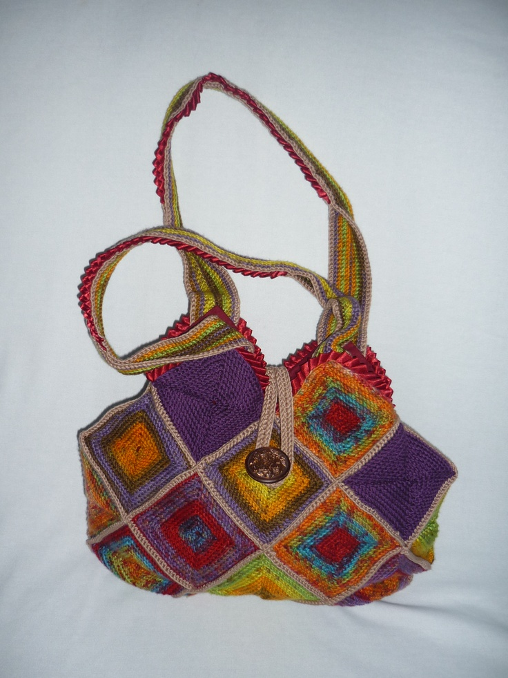 Crochet Bags Pinterest : Crochet bag noraCREAtive/own/ creation Pinterest