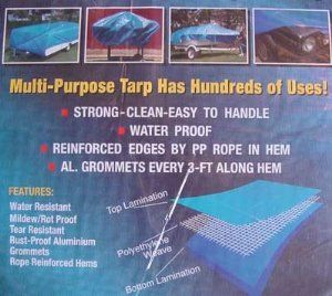 covering vehicles, trailers, boats, lawn furniture or any other